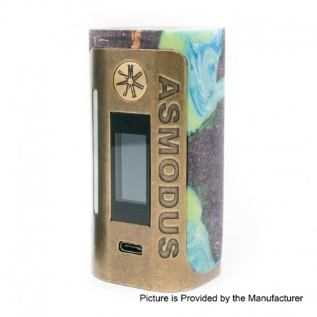 Authentic Asmodus Lustro 200W Touch Screen TC VW Variable Wattage Box Mod Kodama Edition - Green, 5~200W, 2 x 18650