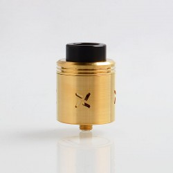 Authentic Shield Cig Mark XLIV RDA Rebuildable Dripping Atomizer - Gold, Stainless Steel, 30mm Diameter