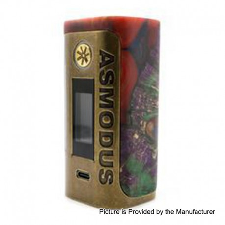 Authentic Asmodus Lustro 200W Touch Screen TC VW Variable Wattage Box Mod Kodama Edition - Red, 5~200W, 2 x 18650