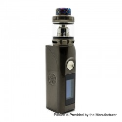 Authentic Asmodus Colossal 80W TC VW Box Mod + Wotofo Flow Pro Sub Ohm Tank Kit - Gun Metal, 5~80W, 1 x 18650, 5ml, 25mm Dia.