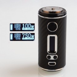 Authentic ShenRay GEO 75W TC VW Variable Wattage Box Mod - Black + Silver, 10~75W, 1 x 18650 / 26650