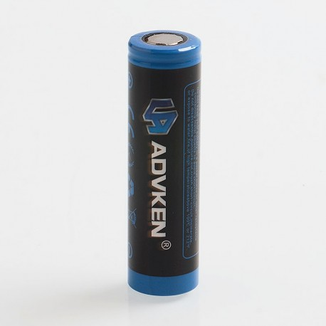 Authentic Advken 3.7V 20A 2500mAh 18650 High drain Rechargeable Li-ion Battery - Black + Blue
