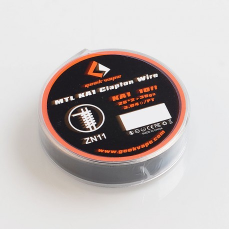 Authentic GeekVape MTL KA1 Clapton Heating Resistance Wire - 28GA x 2 + 38GA, 3m (10 Feet)