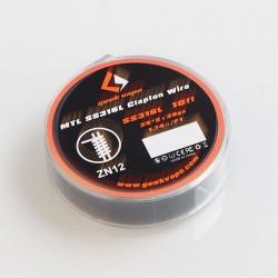 Authentic GeekVape MTL SS316L Clapton Heating Resistance Wire - 28GA x 2 + 38GA, 3m (10 Feet)