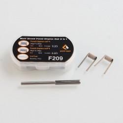 Authentic GeekVape F209 Multi Strand Fused Clapton Coil 2 in 1 Coil Kit - 0.3 Ohm (4 PCS), 0.2 Ohm (4 PCS)