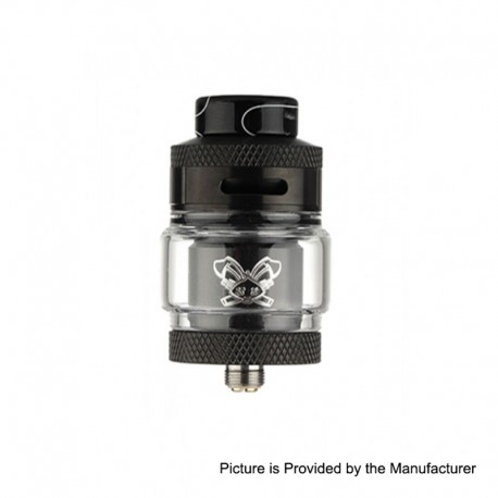Authentic Hellvape Dead Rabbit RTA Rebuildable Tank Atomizer - Black, 2ml / 4.5ml, 25mm Diameter