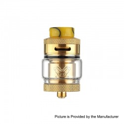Authentic Hellvape Dead Rabbit RTA Rebuildable Tank Atomizer - Gold, 2ml / 4.5ml, 25mm Diameter
