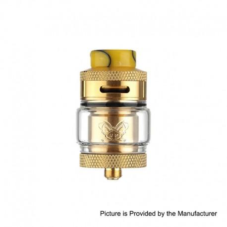 Authentic Hellvape Dead Rabbit RTA Rebuildable Tank Atomizer - Gold, 2ml / 4.5ml, 25mm Diameter