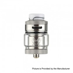 Authentic Hellvape Dead Rabbit RTA Rebuildable Tank Atomizer - Silver, 2ml / 4.5ml, 25mm Diameter