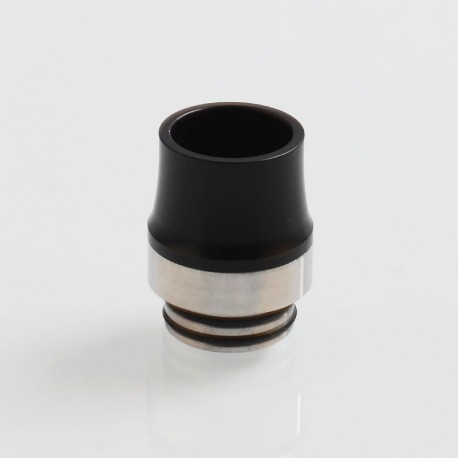810 Replacement Drip Tip for TFV8 / TFV12 Tank / Goon / Kennedy / Reload RDA - Black, POM + Stainless Steel, 20.5mm