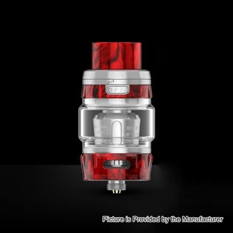 Authentic GeekVape Alpha Sub Ohm Tank Clearomizer - Silver + Ember Resin, 0.2 Ohm, 4ml, 25mm Diameter