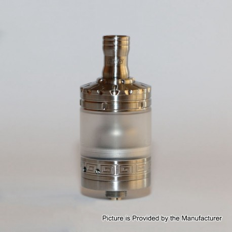 Unfollow Momentous V2.1 Style RTA Rebuildable Tank Atomizer - Silver, 316 Stainless Steel, 3.7ml, 22mm Diameter