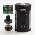 Authentic Sigelei GW 257W VW Variable Wattage Mod + F Tank Kit - Black + Gun Metal, Zinc Alloy + Stainless Steel, 2 x 18650
