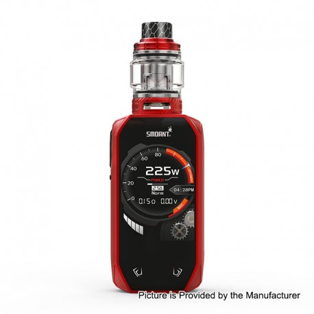 Authentic Smoant Naboo 225W TC VW Variable Wattage Box Mod + Naboo Mesh Tank Kit - Red, 1~225W, 2 x 18650, 4ml