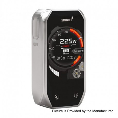 Authentic Smoant Naboo 225W TC VW Variable Wattage Box Mod - Silver, 1~225W, 2 x 18650