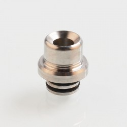 Vapeasy SteamTuners T9 Style 510 Drip Tip for RDA / RTA / Sub Ohm Tank - Silver, Stainless Steel, 14mm