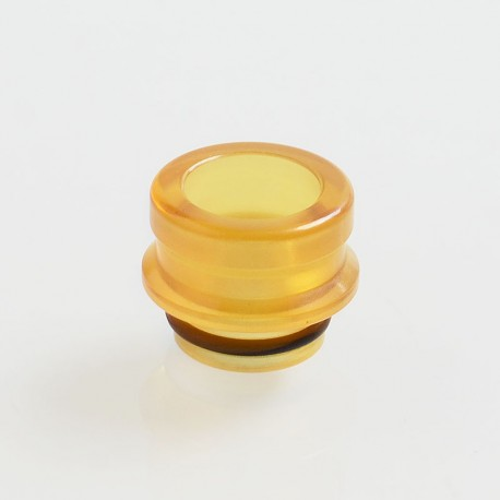Dee Mods Shorty V2 Style 510 Drip Tip for RDA / RTA / Sub Ohm Tank - Yellow, PEI, 9.5mm