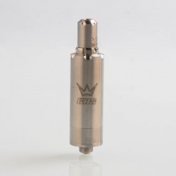 ShenRay AIOLOS V2 Style RTA Rebuildable Tank Atomizer - Silver, 316 Stainless Steel, 2ml, 16mm Diameter
