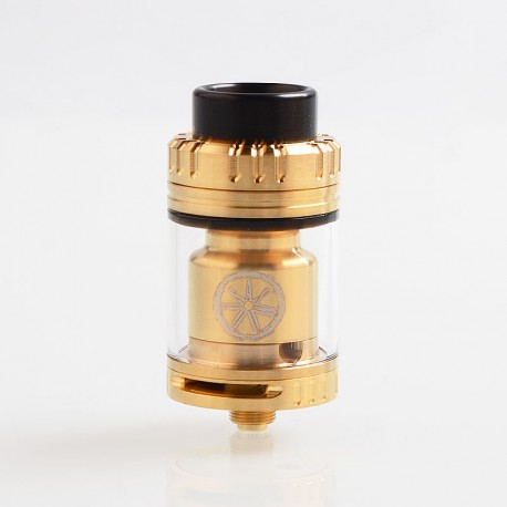 Authentic Asmodus Voluna V2 RTA Rebuildable Tank Atomizer - Gold, Stainless Steel, 3.2ml, 25mm