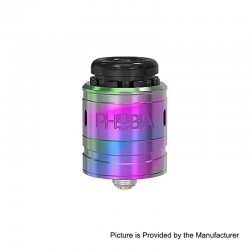 Authentic Vandy Vape Phobia V2 RDA Rebuildable Dripping Atimizer w/ BF Pin - Rainbow, Stainless Steel, 24mm Diameter
