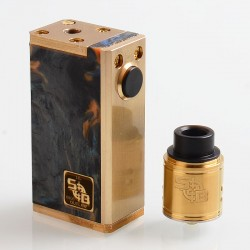 SOB Style Hybrid Mechanical Box Mod + Outlaw Style RDA Kit - Random Color, Brass + Resin, 1 x 18650