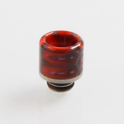 510 Replacement Drip Tip for RDA / RTA / Sub Ohm Tank Atomizer - Red, Resin + Stainless Steel, 17.6mm