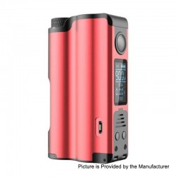Authentic Dovpo Topside 90W TC VW Variable Wattage Squonk Box Mod - Red, 10ml, 1 x 18650 / 21700