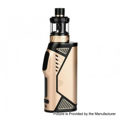 Authentic Uwell Hypercar 80W TC VW Variable Wattage Box Mod + Whirl Sub Ohm Tank Kit - Gold, 5~80W, 1 x 18650, 3.5ml