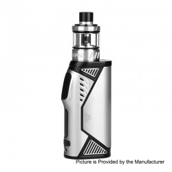 Authentic Uwell Hypercar 80W TC VW Variable Wattage Box Mod + Whirl Sub Ohm Tank Kit - Silver, 5~80W, 1 x 18650, 3.5ml