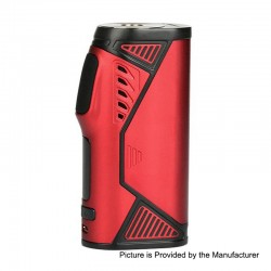 Authentic Uwell Hypercar 80W TC VW Variable Wattage Box Mod - Red, Zinc Alloy, 5~80W, 1 x 18650, 200'F~600'F / 100'C~315'C