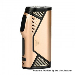 Authentic Uwell Hypercar 80W TC VW Variable Wattage Box Mod - Gold, Zinc Alloy, 5~80W, 1 x 18650, 200'F~600'F / 100'C~315'C