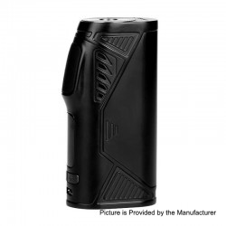 Authentic Uwell Hypercar 80W TC VW Variable Wattage Box Mod - Black, Zinc Alloy, 5~80W, 1 x 18650, 200'F~600'F / 100'C~315'C