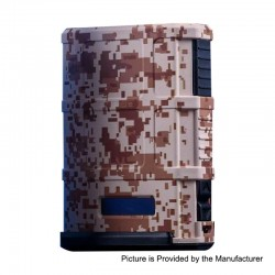 Authentic Cool Vapor Madpul 200W VW Variable Wattage Box Mod - Camouflage, Nylon Fiber + Stainless Steel, 2 x 18650