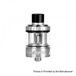 Authentic Uwell Whirl Sub Ohm Tank Clearomizer - Silver, Stainless Steel + Glass, 3.5ml, 0.6 Ohm, 24.2mm Diameter