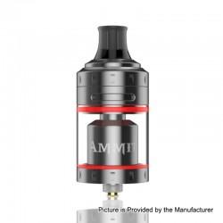 Authentic GeekVape Ammit MTL RTA Rebuildable Tank Atomizer - Gun Metal, Stainless Steel + Glass, 4ml, 24mm Diameter