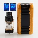 Authentic SMOKTech SMOK E-PRIV 230W TC VW Variable Wattage Box Mod + TFV12 Prince Tank Kit - Black Gold, 1~230W, 2 x 18650, 8ml