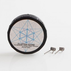 Authentic Akattak Clapton 2Core Nichrome 80 Wire Pre-built Coils - 26GA x 2 + 38GA, 0.25 Ohm (20 PCS)
