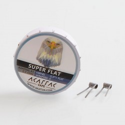 Authentic Akattak Super Flat Kanthal A1 Wire Pre-built Coils - 0.3 x 1 Flat, 0.3 Ohm (20 PCS)