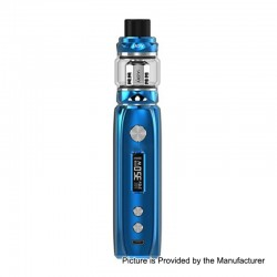 Authentic IJOY Katana 81W 3000mAh ALM TC VW Variable Wattage Mod + Sub Ohm Tank Starter Kit - Blue, 0.2 Ohm, 25mm Diameter