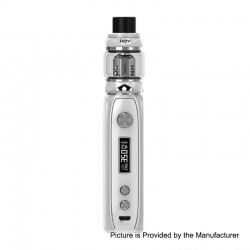 Authentic IJOY Katana 81W 3000mAh ALM TC VW Variable Wattage Mod + Sub Ohm Tank Starter Kit - White, 0.2 Ohm, 25mm Diameter