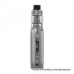 Authentic IJOY Katana 81W 3000mAh ALM TC VW Variable Wattage Mod + Sub Ohm Tank Starter Kit - Silver, 0.2 Ohm, 25mm Diameter