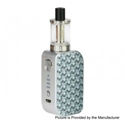 Authentic Arctic Dolphin ELUX 1300mAh TC VW Box Mod + Sub Ohm Tank Starter Kit - S-Crescent Moon, 5~30W, 2ml, 2 Ohm