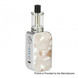 Authentic Arctic Dolphin ELUX 1300mAh TC VW Box Mod + Sub Ohm Tank Starter Kit - S-Zebra Stripe, 5~30W, 2ml, 2 Ohm