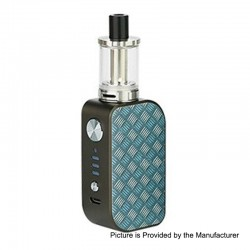 Authentic Arctic Dolphin ELUX 1300mAh TC VW Box Mod + Sub Ohm Tank Starter Kit - G-Square, 5~30W, 2ml, 2 Ohm