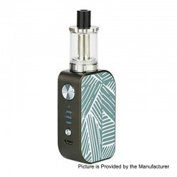 Authentic Arctic Dolphin ELUX 1300mAh TC VW Box Mod + Sub Ohm Tank Starter Kit - G-Stripe, 5~30W, 2ml, 2 Ohm