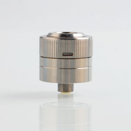Space5 Style RDA Rebuildable Dripping Atomizer w/ BF Pin - Silver, 316 Stainless Steel, 22mm Diameter