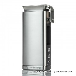 Authentic Squid Industries Detonator 120W TC VW Variable Wattage Box Mod - Silver, 7~120W, 1 x 20700 / 21700