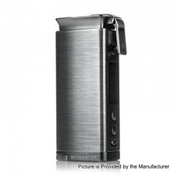 Authentic Squid Industries Detonator 120W TC VW Variable Wattage Box Mod - Gun Metal, 7~120W, 1 x 20700 / 21700
