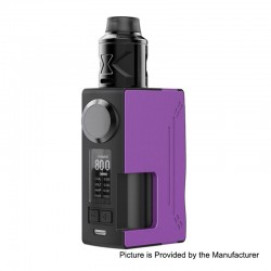 Authentic Hugsvape Surge 80W TC VW Squonk Mod + Piper BF RDA Kit - Purple, 7~80W, 1 x 18650 / 20700, 24mm Diameter