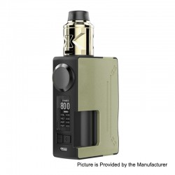 Authentic Hugsvape Surge 80W TC VW Squonk Mod + Piper BF RDA Kit - Gold, 7~80W, 1 x 18650 / 20700, 24mm Diameter
